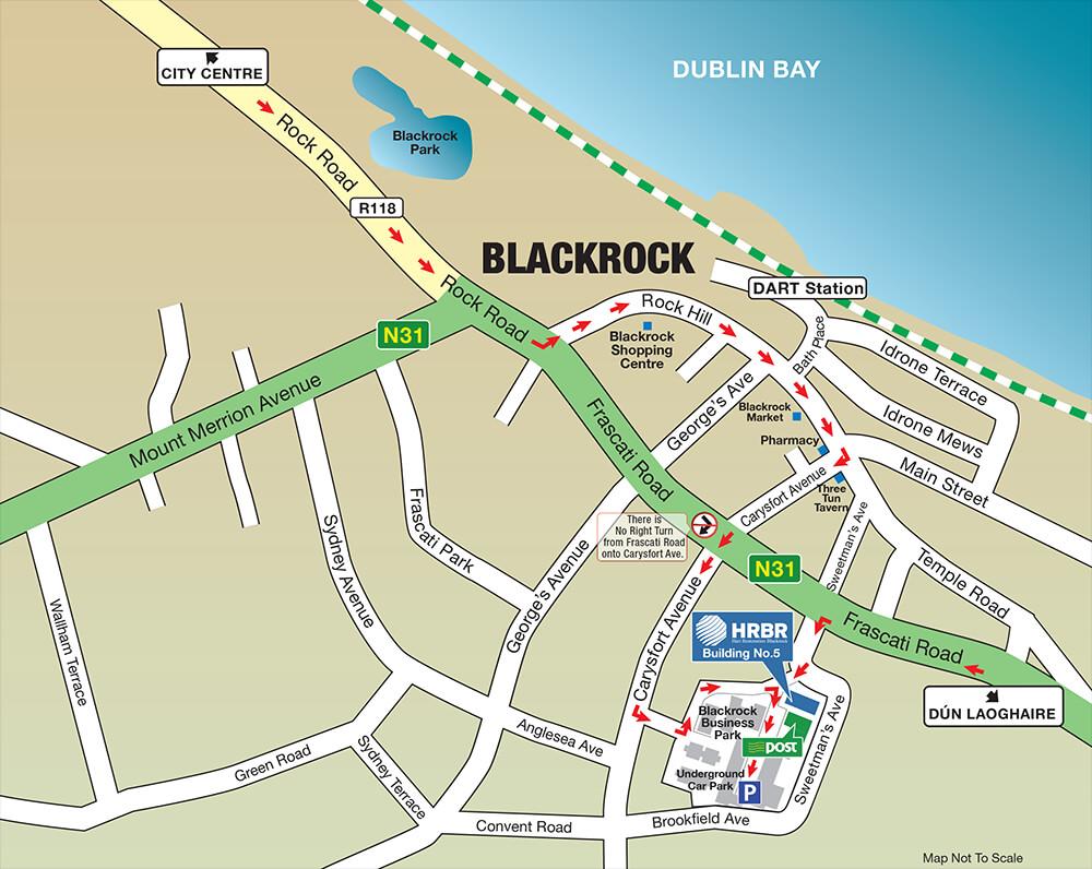 HRBR Dublin Map
