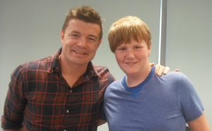 Brian O'Driscoll with Shane Corrigan Hair trnasplant patient